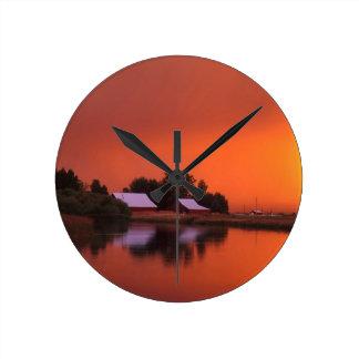 Water Fall River California Round Clock