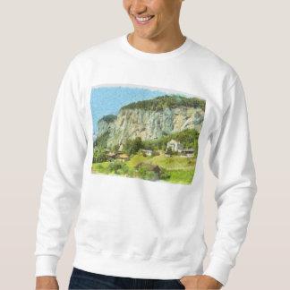 Water falling off a cliff sweatshirt