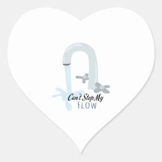 Water Faucet Heart Sticker