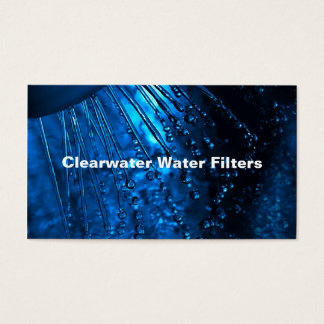 Water Filter Service Business Card