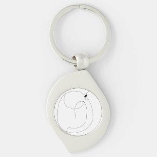 Water Flea Silver-Colored Swirl Key Ring