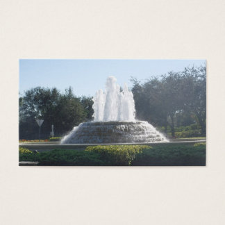 Water Fountain Flowing Business Card