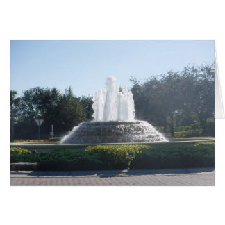 Water Fountains Flowing Card