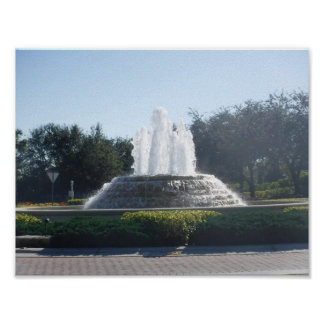 Water Fountains Flowing Poster