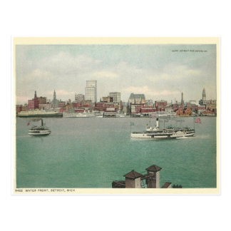 Water Front Detroit Michigan Postcard