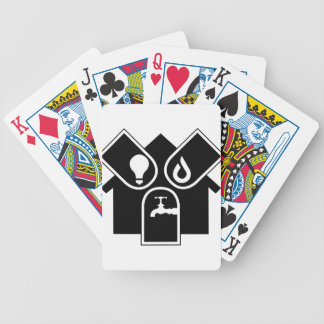 Water Gas Electric Bicycle Playing Cards