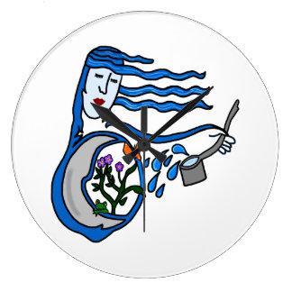 Water Goddess Round Clock