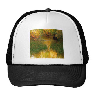 Water Gorge At Autumn Mesh Hat