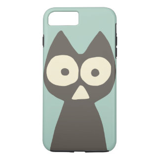 Water green Grey Triangle Symbolic Cat iPhone 8 Plus/7 Plus Case