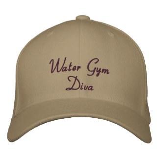 Water Gym Diva Embroidered Baseball Cap