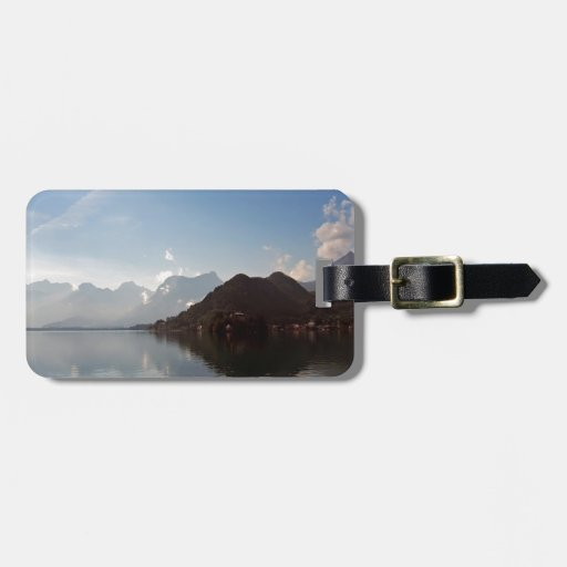 Water Haze Clouds Mountains Tag For Luggage