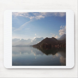 Water Haze Clouds Mountains Mouse Pad