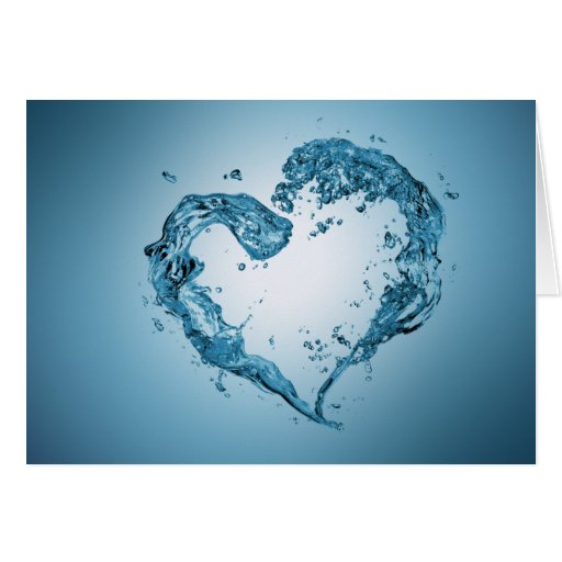Water Heart - Greeting Card