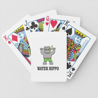 water hippo fun bicycle playing cards
