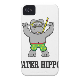 water hippo fun Case-Mate iPhone 4 cases