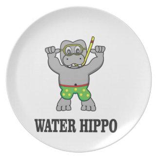 water hippo fun plate