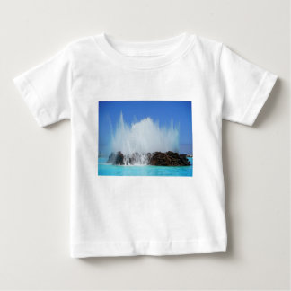 Water hitting rocks on canary islands baby T-Shirt