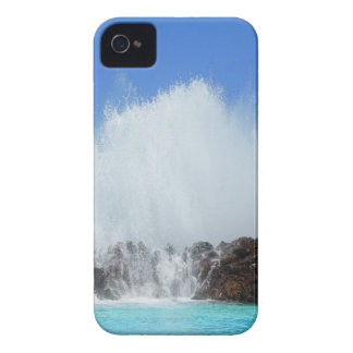 Water hitting rocks on canary islands iPhone 4 Case-Mate cases