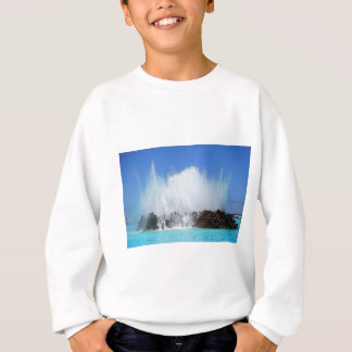 Water hitting rocks on canary islands sweatshirt