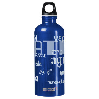 Water in Many Languages Water Bottle