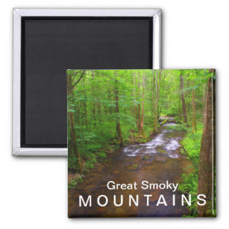Water in the Great Smoky Mountains National Park Square Magnet