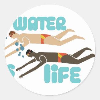 Water Is Life Round Sticker