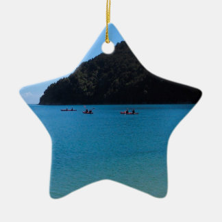 Water Kayaking Experience Ceramic Ornament