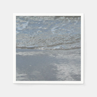 Water Lapping on the Beach Abstract Photography Disposable Napkins