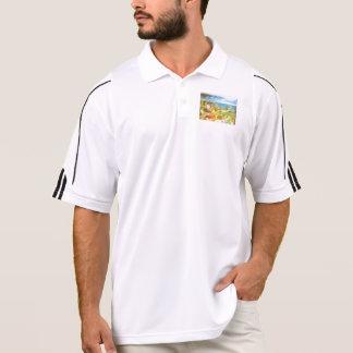 Water level in an aquarium polo shirts