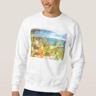Water level in an aquarium sweatshirt