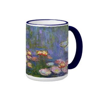 Water Lilies 10 Ringer Mug