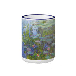 Water Lilies, 1915 Claude Monet cool, old, master, Ringer Mug