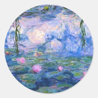 Water Lilies 1 Classic Round Sticker