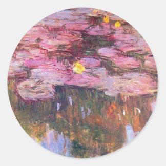 Water Lilies 3 Round Sticker