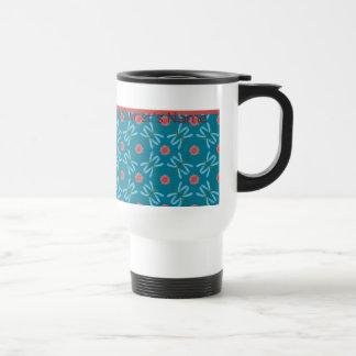 Water Lilies and Dragonflies, Custom Travel Mug
