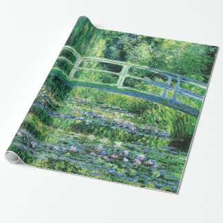 Water Lilies and Japanese Bridge, Claude Monet Wrapping Paper