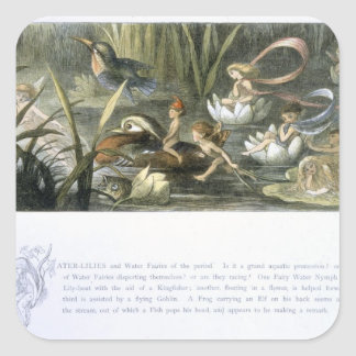 Water-Lilies and Water Fairies illustration from Stickers
