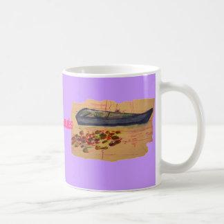 water lilies art coffee mug