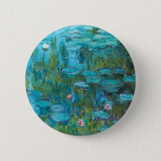 Water Lilies by Claude Monet 6 Cm Round Badge