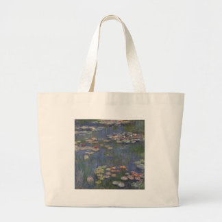 Water Lilies by Claude Monet Large Tote Bag