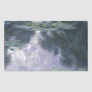Water Lilies by Claude Monet. Rectangular Sticker