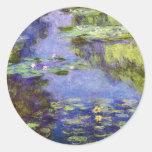 Water Lilies by Claude Monet Round Sticker