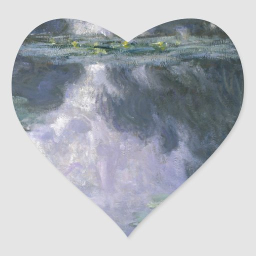 Water Lilies by Claude Monet. Heart Sticker