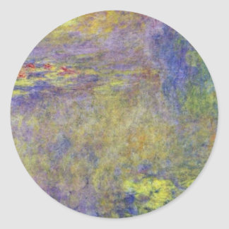 Water Lilies  By Claude Monet Round Stickers