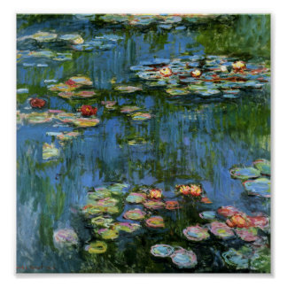 Water Lilies by Monet Poster