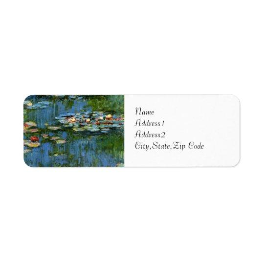 Water Lilies by Monet Return Address Label
