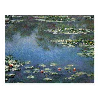 Water Lilies by Monet Vintage Floral Impressionism Postcard