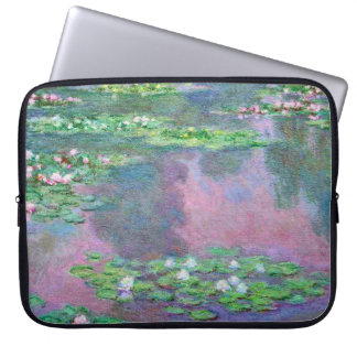 Water Lilies Claude Monet Fine Art Laptop Sleeve