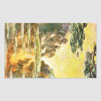 Water Lilies Claude Monet Rectangle Stickers