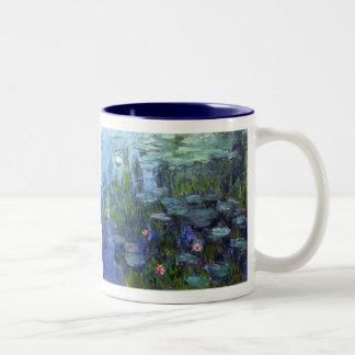 Water Lilies, Claude Monet Two-Tone Mug